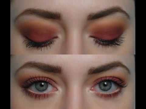 Бордовые смоки айс: видео-урок / Warm Cranberry Smoky Eyes