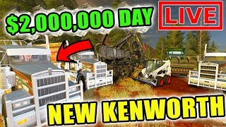 MAKING 2 MILLION DOLLARS LOGGING | LIVE STREAM | MULTIPLAYER | FARMING SIMULATOR 2017