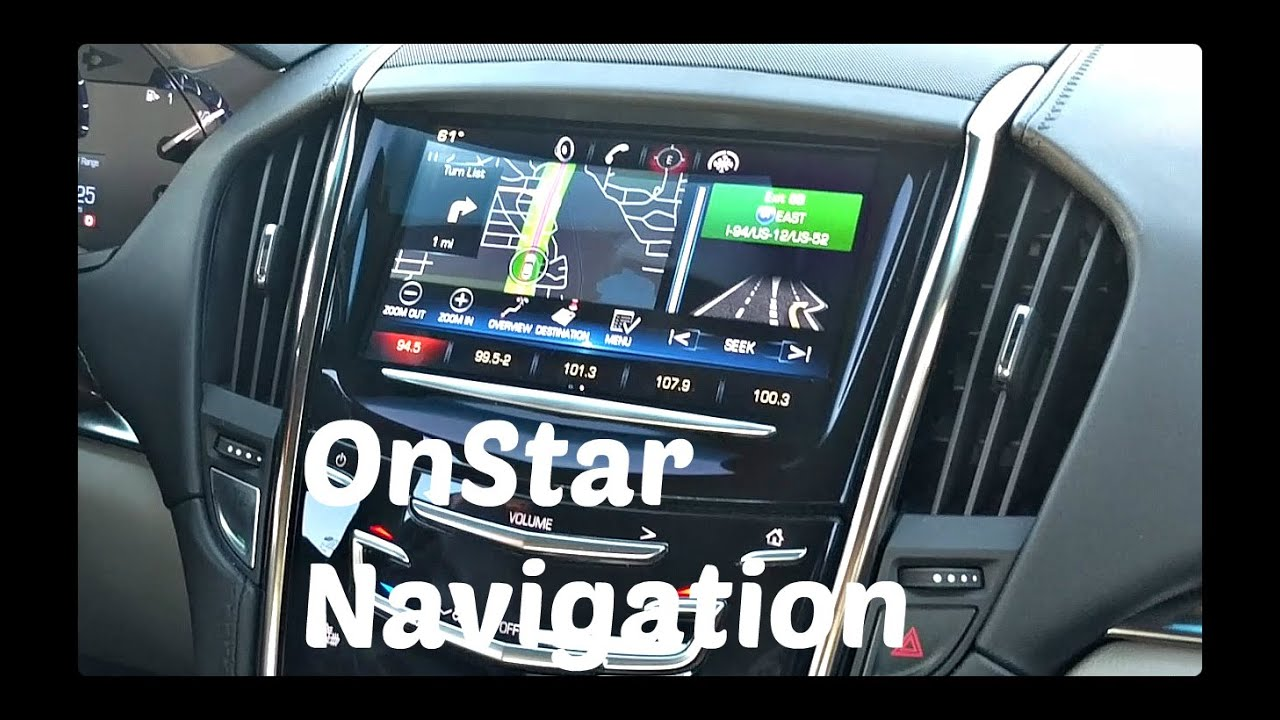 How To Use Onstar Navigation Youtube