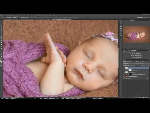 Обработка фотографий с новорожденными Часть 2 Ph