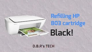 How to refill HP 803 cartridge black!