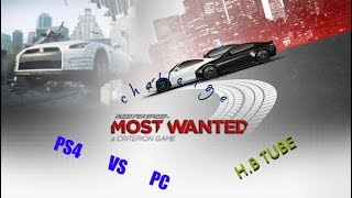 NFS MOST WANTED 2012 (PS4 VS PC) GAME PLAY