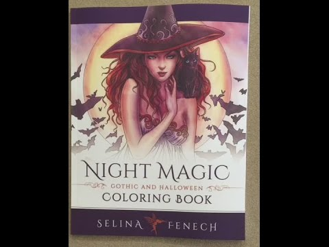 Night Magic Gothic And Halloween Coloring Book Flip Through
