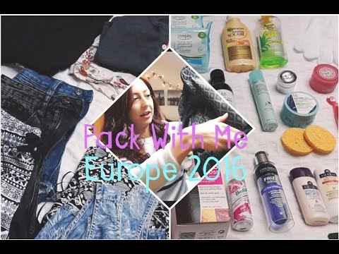 Pack With Me : One Month in Europe (Summer 2016)