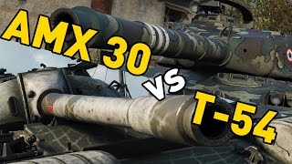 World of Tanks || AMX 30 vs T-54