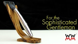 Make this classy razor stand by bending wood. Movember! Thumbnail