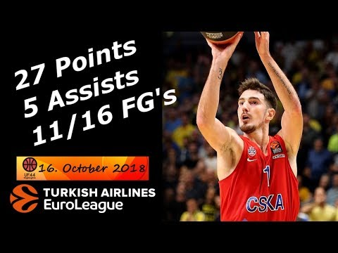 Nando De Colo Full Highlights 16.10.2018 Maccabi vs CSKA - 27 Pts, 5 Asts! | UF44 Highlights