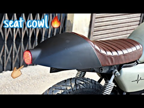 installation seat cowl with led tail light in splendor + | modified splendor