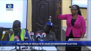 Collation Of Results In Osun Governorship Election Pt.6  Osun Decides 