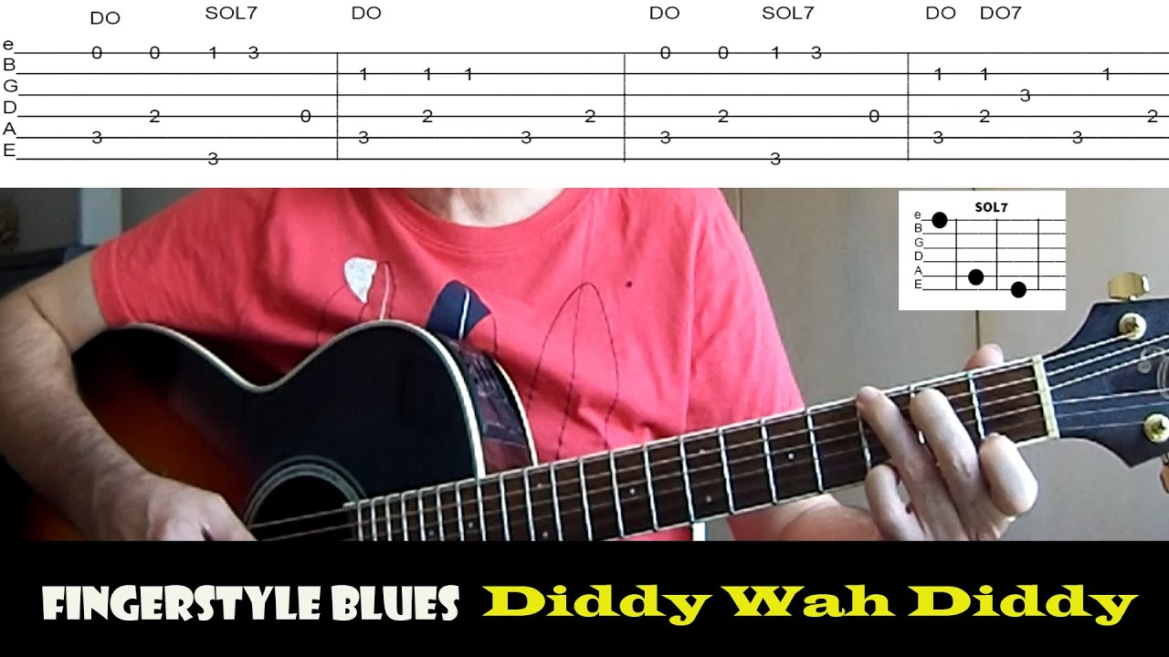 COMO TOCAR | DIDDY WAH DIDDY - Fingerstyle Blues