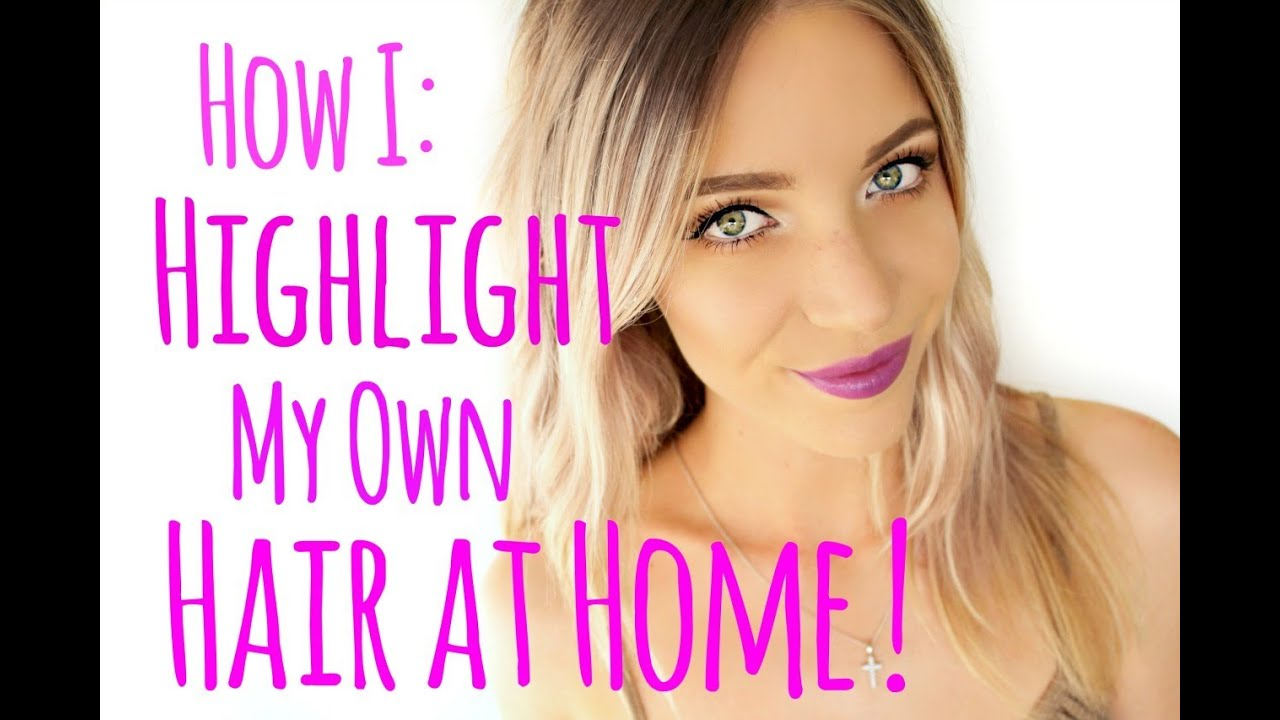 How To Highlight Your Hair At Home Stephanie Lange Youtube
