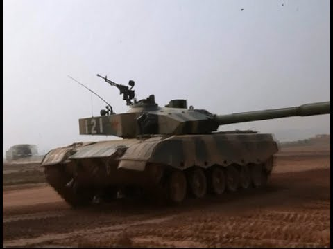 China's Main Battle Tank Unit Conducts Live Fire Exercise under  High Temperature