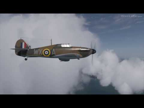 Hurricane head to head CR-42, English Channel, IL-2 COD