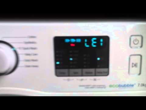 Samsung washing machine error LE1