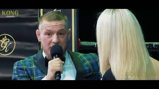 NEW Conor McGregor  Full Interview An Evening with Glasgow