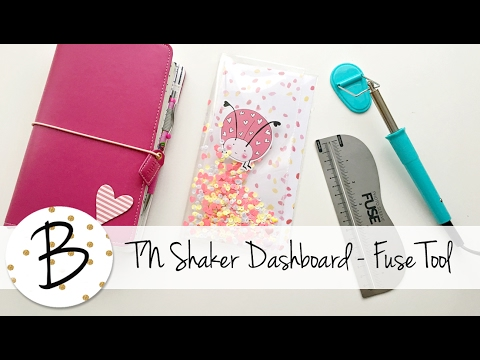 How to make a shaker dashboard for Travelers Notebooks - Fus