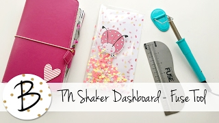 How to make a shaker dashboard for Travelers Notebooks - Fuse Tool tutorial