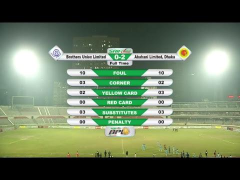 BPL Football 2017 : LIVE ON || MATCH # 115 || BROTHERS UNION Ltd. vs. DHAKA ABAHANI