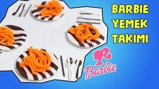 Barbie Bebeklere Tabak Çatal Bıçak Takımı Yapımı - DIY - Kendin Yap Barbie Kolay Mutfak Eşyaları