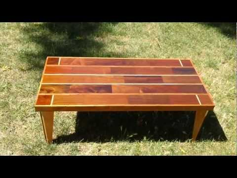 Brazilian Walnut, Brazilian Cherry & Red Oak Table Part 4