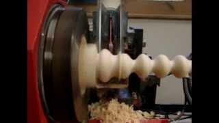 Woodturning Decorative Table Leg.wmv