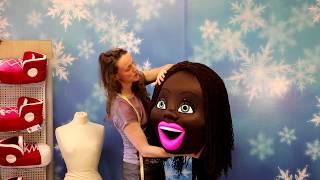 Ростовая кукла бразильянка обзор головы с разными волосами