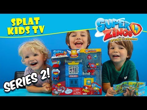 New Superzings Series 2 Police Station Playset 😁 👮‍♂️