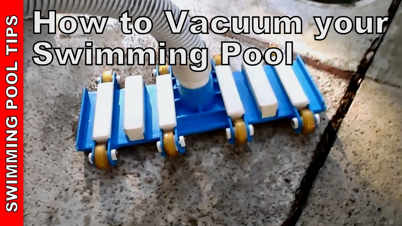 how to vacuum your pool youtube. Black Bedroom Furniture Sets. Home Design Ideas