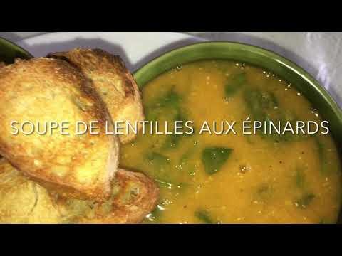 soupe-de-lentilles-aux-Épinards