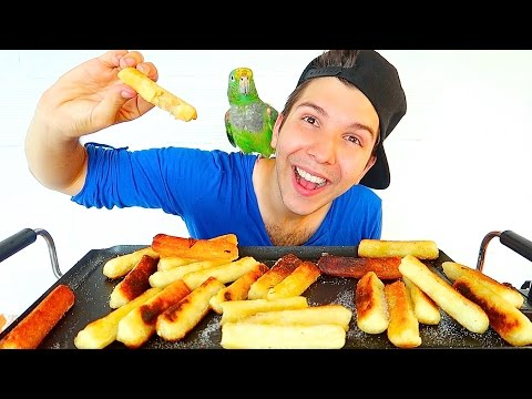 Fried Mozzarella Cheese Stick • MUKBANG