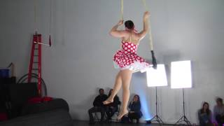 Raven on Trapeze at Aerial Fit's Holiday Party