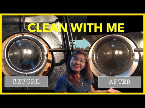 Clean With Me | How to Clean Stove with Baking Soda and Cif | Jean's Vlogs | SAHW