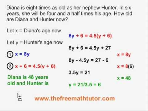 Word Problems With 2 Unknowns - Example 2