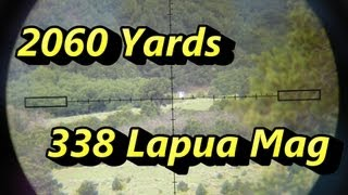 اطلاق النار 2060 متر! 1.17 كم وحشية 110 با 338 Lapua