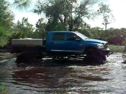 Big Dodge Megacab mud truck hill climb - YouTube