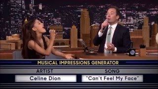 Ariana Grande And Jimmy Fallon (Celine Dion And Sting) Cover Can't Feel My Face