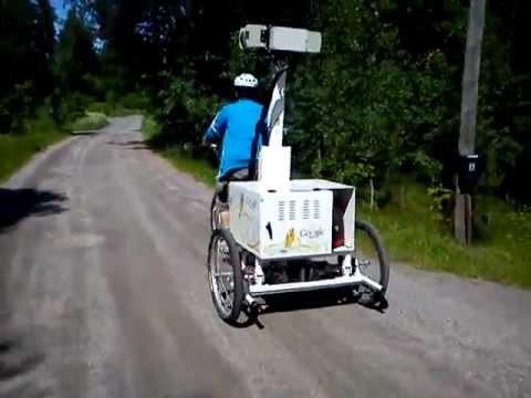Google Maps Trike filming near Otaniemi Espoo Finland