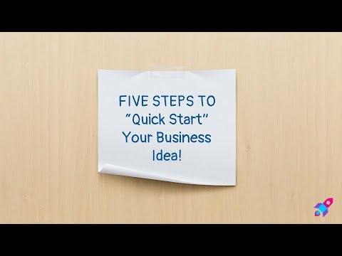Five Steps To QuickStart Your Business Idea - Live Event Sneak Peek