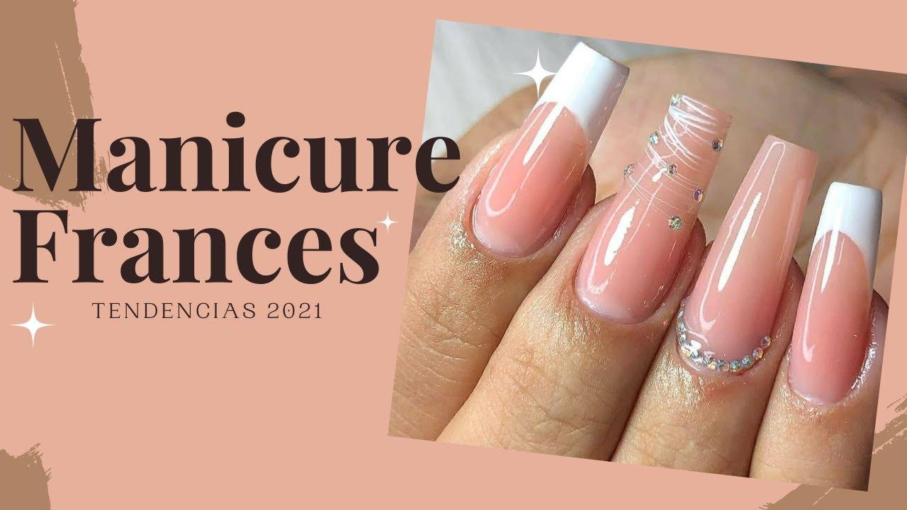 Manicura Francés Moderno 🤍diseños de uñas en tendencia 🤍 / french manicure 2021