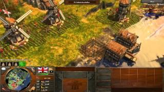 Age of Empires III Multiplayer Gameplay Deutsch - Captain vs 2ter Leutnant!