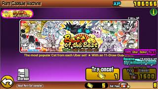 Battle Cats: Best Of The BEST Gacha Event 1500 Catfood