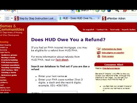 How to find & Collect Your HUD/FHA Mortgage Insurance Refund - YouTube
