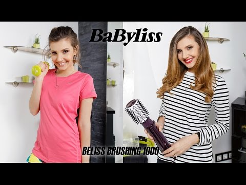 Larisa at the gym for BABYLISS BELISS BRUSHING 1000