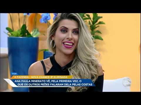 Ana Paula Minerato Vê, Pela Primeira Vez, O Que Os Peões Falaram Dela Pelas Costas Em A Fazenda