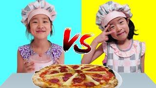 재미있는 짜장면 피자 대결 챌린지! Pizza race challenge and make food for mom