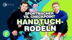 Sportmacher versus Checkpoint beim Handtuchrodeln - Die Sportmacher | ZDFtivi