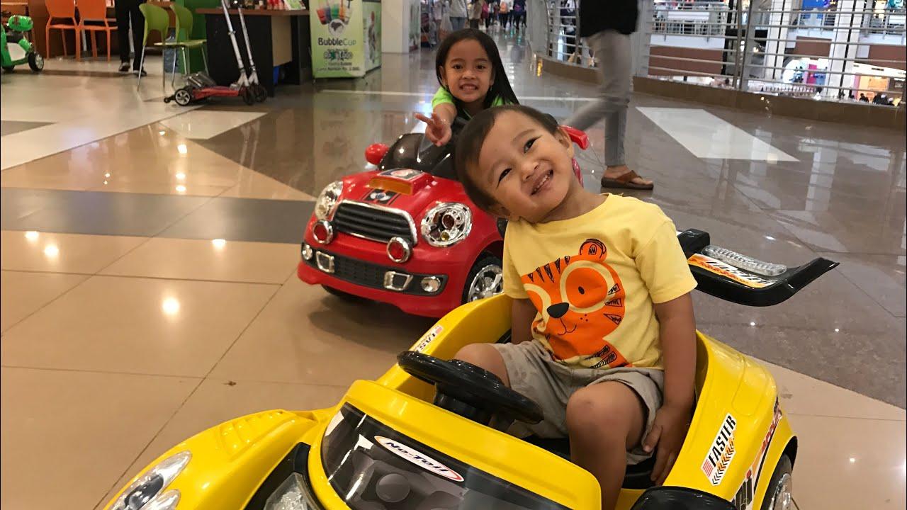 Power Wheels Ride on Car for Kids | Kenzo naik Mobil Mobilan di Mall