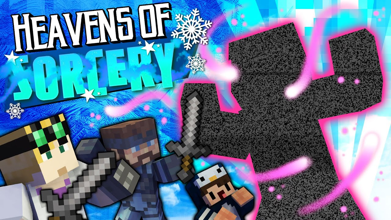 Battle with the Gaia Guardian - MINECRAFT HEAVENS OF SORCERY #50