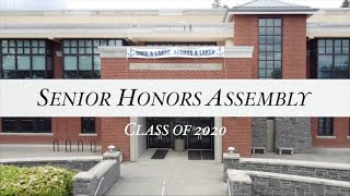 Class of 2020 Senior Honors Assembly