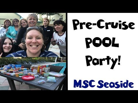 Pre-Cruise Pool Party!! 🍹 MSC Seaside Group Cruise Vlog [ep1]